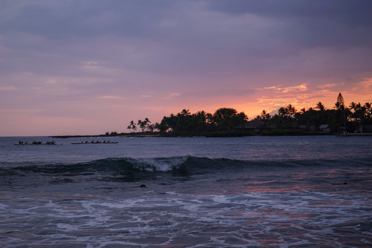 Sunsets are beautiful.  Shot from the Kona Inn.