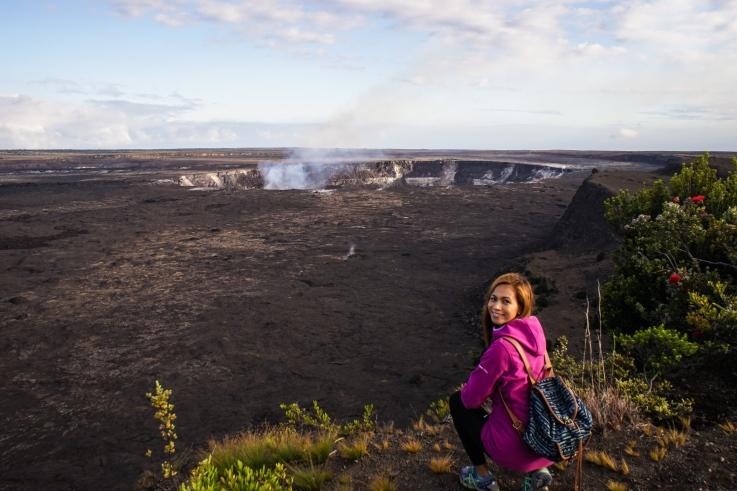 The Kilauea caldera.