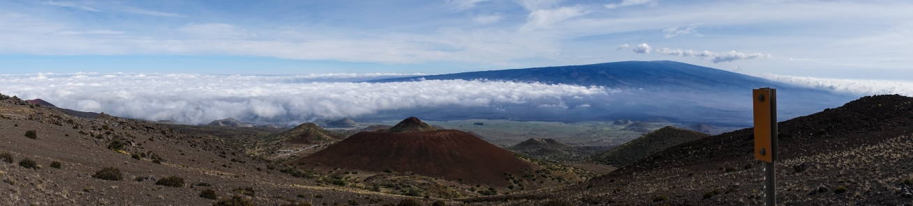 Mid point of Mauna Kea.