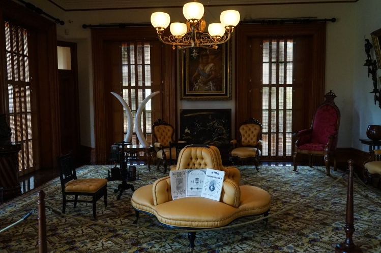 The music room in Iolani Palace.