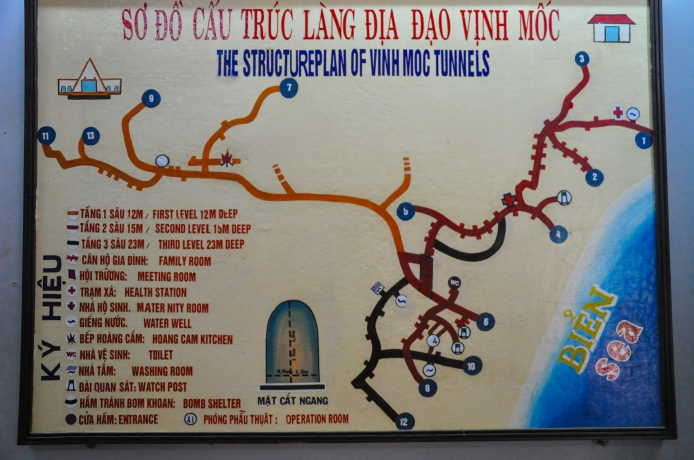 The real Vietcong tunnels and with exits to the sea.