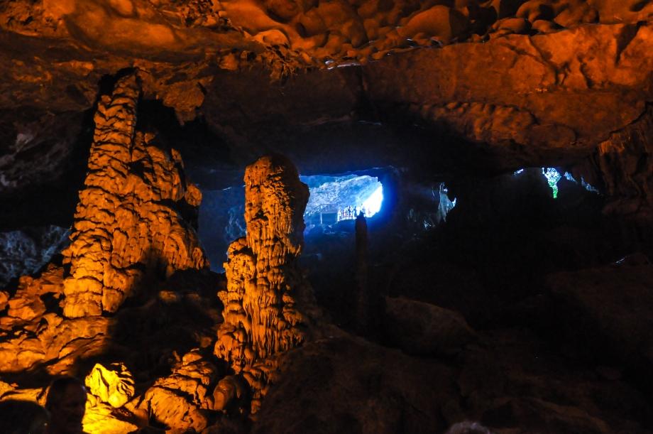 Cave inside the limestone karst.